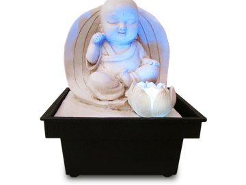 fuente buda meditando